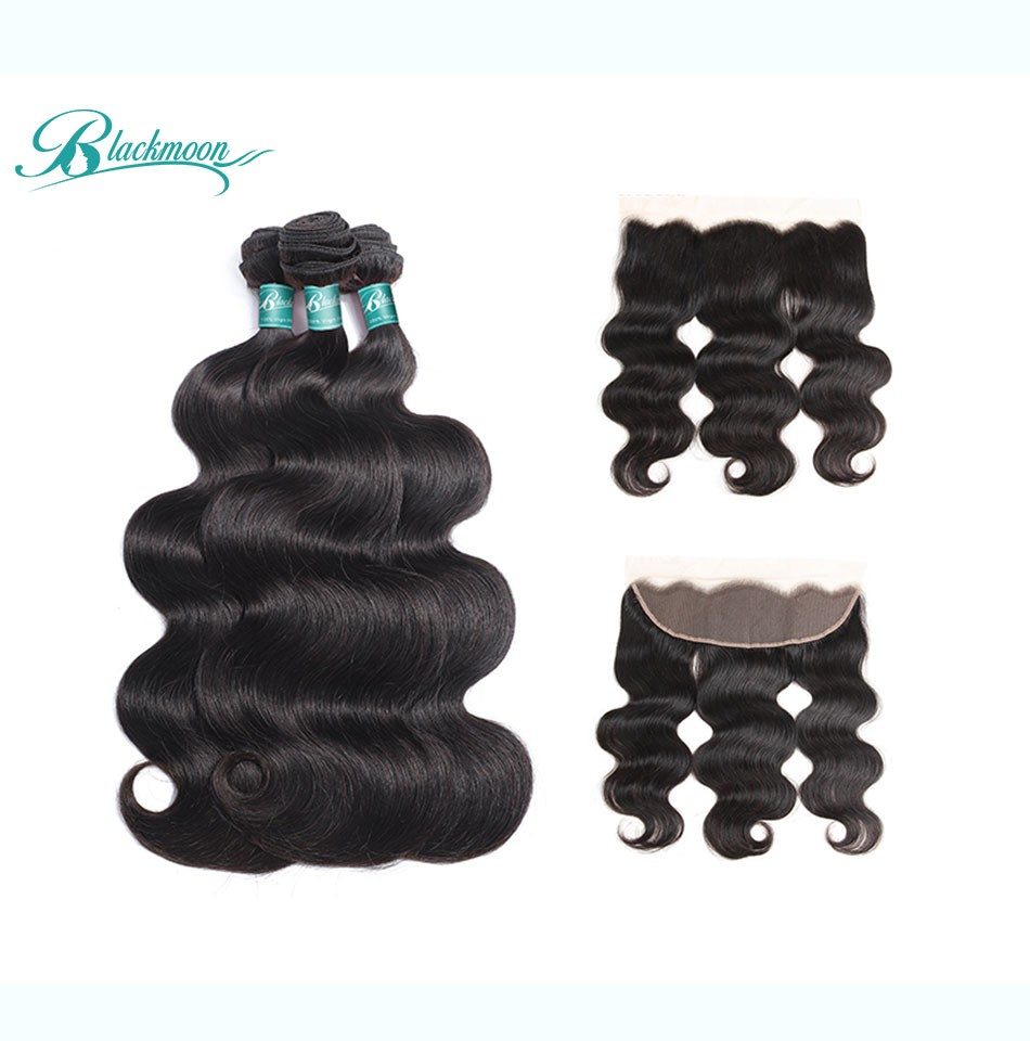 body wave hair weave bundles with frontal-3+13_04