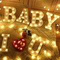 22 см светодиодный Ночной светильник с буквенным принтом Алфавит батарея домашнее украшение Стены вечерние украшения на свадьбу День рожде...