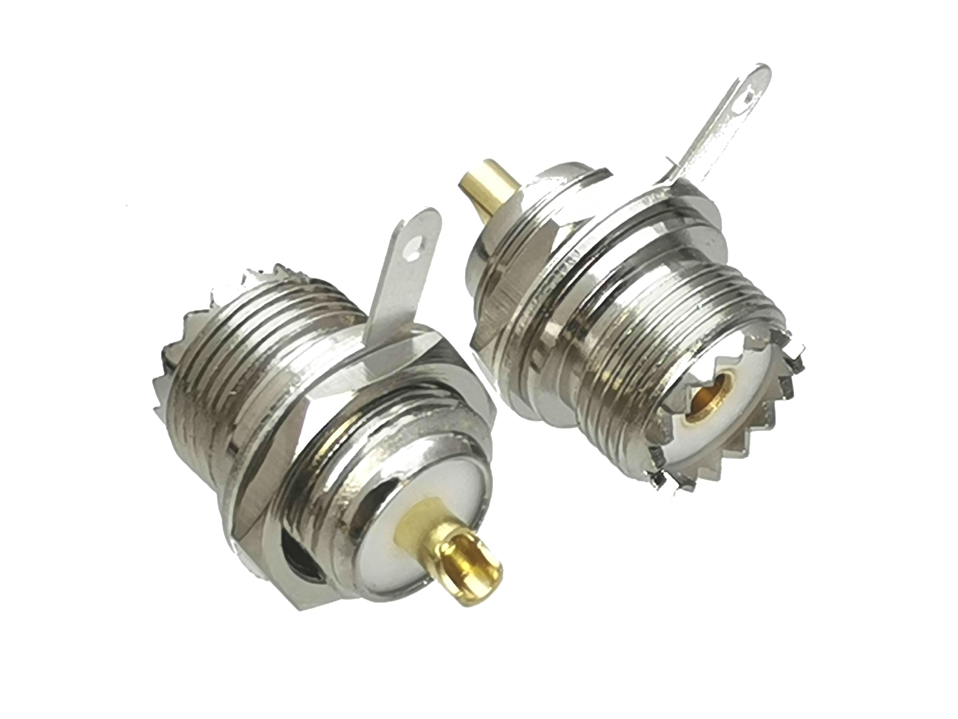 1 шт. разъем UHF SO239 гнездовой разъем Bullkhead Nut припой для панельного крепления RF коаксиальный адаптер