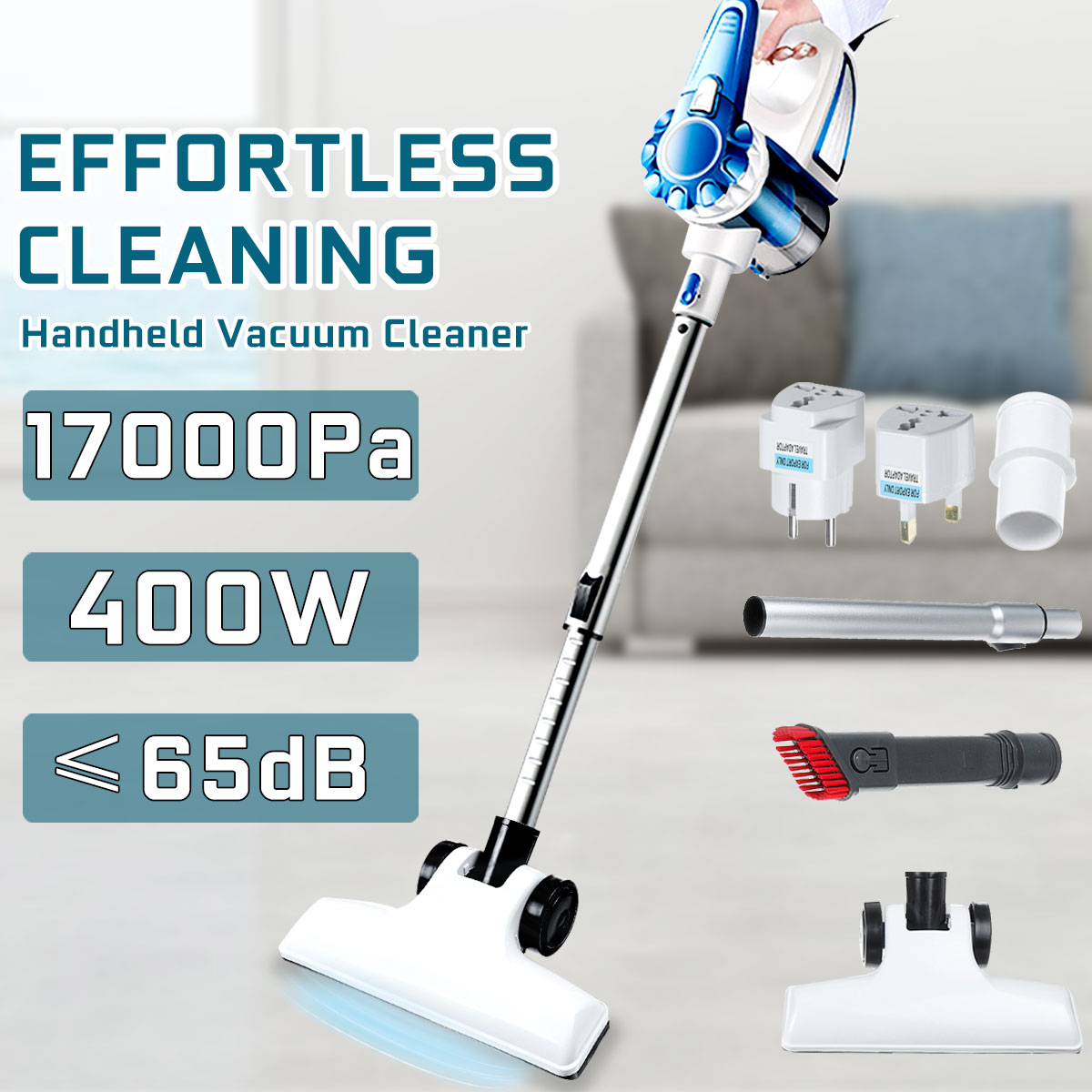 17000PA 400W Handheld Vacuum Cleaner Hepa Super Powerful Suction Cleaning Tool Set Vacum Cleaner For Home Car