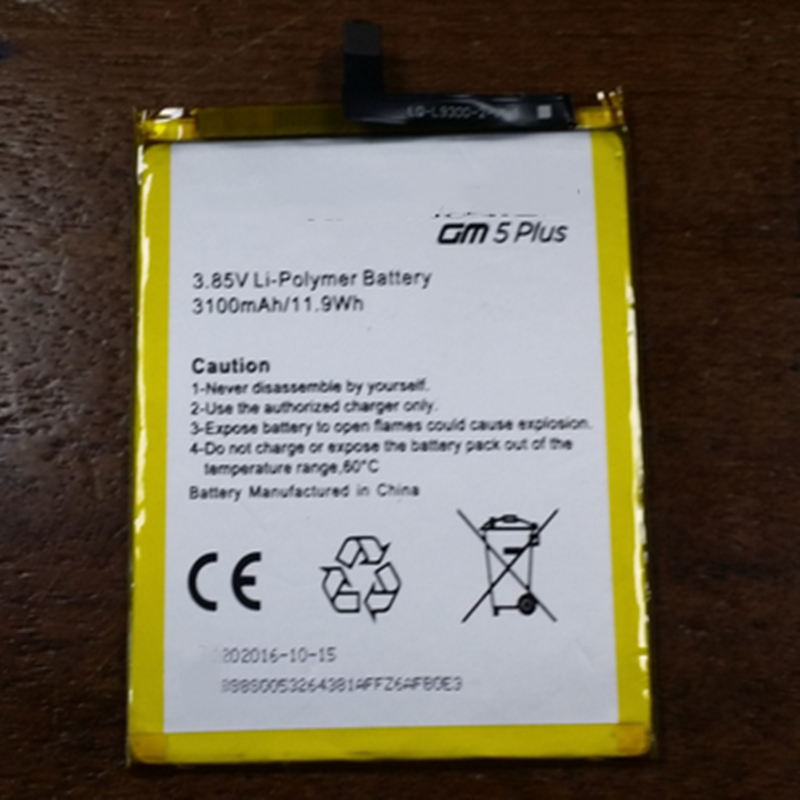 3100mAh GM5 Plus Battery For General Mobile Discovery 5 Plus (General Mobile GM5 Plus) battery with repair tools for gift image