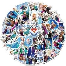 50 Uds congelados 2 pegatinas princesa Elsa Graffiti calcomanía de Frozen para niños en el ordenador portátil monopatín maleta bicicleta