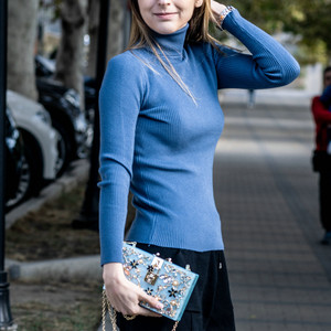 Image 3 - Boutique De Fgg Vrouwen Zwart Acryl Box Clutch Handtassen Bloem Crystal Avond Portemonnees Partij Keten Schouder Crossboday Zak