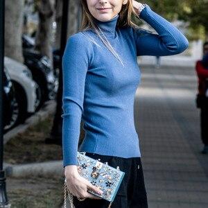 Image 3 - بوتيك دي FGG نساء أسود صندوق أكرليك حقائب اليد زهرة كريستال مساء المحافظ حفلة سلسلة الكتف حقيبة Crossboday