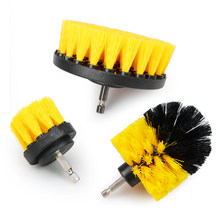 3Pcs/Set 2/3.5/4'' Electric Scrubber Brush Drill Brush Kit Plastic Round Cleaning Brush for Carpet Glass Car Tires Nylon Brushes