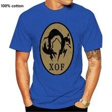 "Metal Gear Solid 5 T-Shirt Ground Zeros ""XOF"" Logo Black Men T Shirt 100% Cotton Print Shirts"