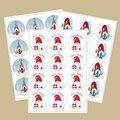 Милый веселый Гном с Рождеством наклейки Рождество Новый год подарок украшение стикер упаковка стикер для канцелярских товаров печать эти...