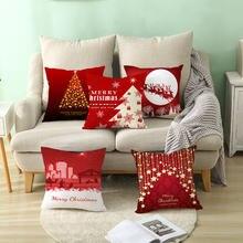 Nanacoba красный чехол для подушки с принтом Рождественский