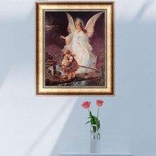Diamond Embroidery Painting Angel Guardian Craft Cross-Stitch Home-Decor Diy 5d 37--30cm