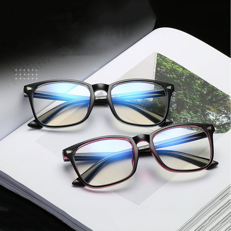 Square Computer Glasses Men Anti Blue Light Game Eyeglasses Women's Eyeglass Frame Blue Light Blocking Eyewear UV Protection