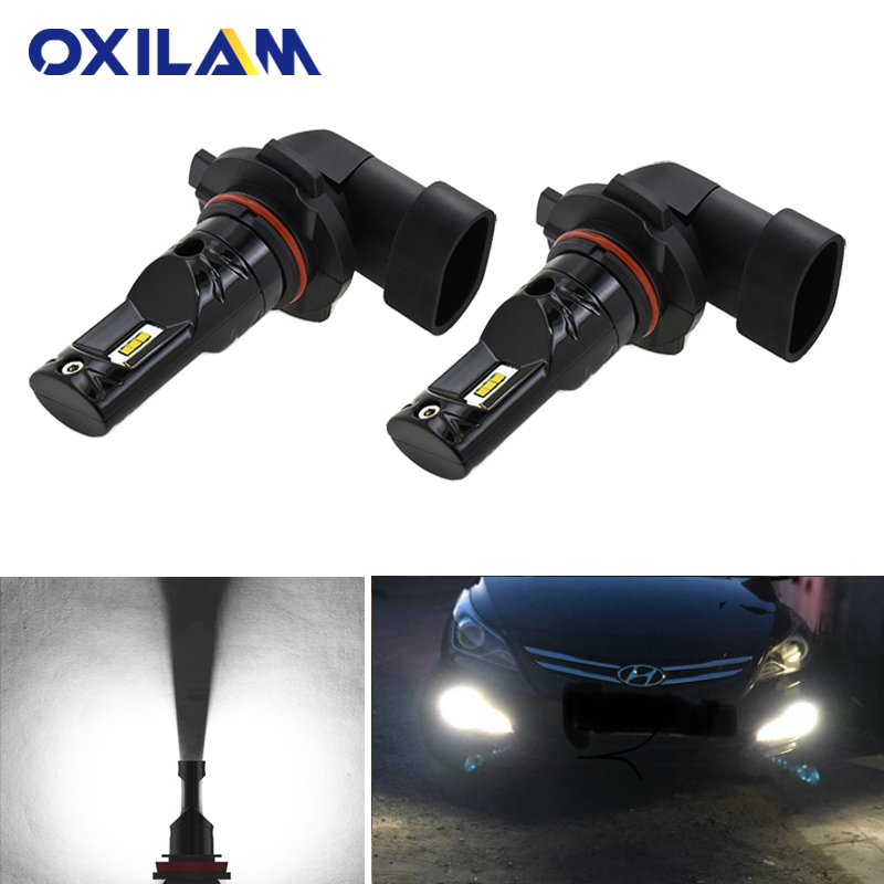 2Pcs H11 H8 LED Bulb Car Fog Lights For Hyundai Creta Ix25 I30 Solaris Santa Fe Accent Tucson H3 H27 880 881 Led Auto Lamp 12V