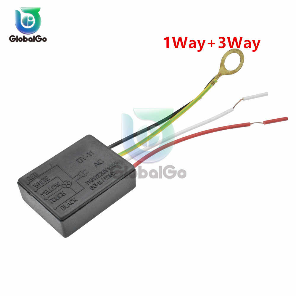 2pcs/Lot 1 Way+3 Way AC 110V 220V Table Light Parts On off Touch Sensor Switch Touch Control Sensor Dimmer For Bulbs Lamp Switch