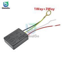 2 teile/los 1 Weg + 3 Weg AC 110V 220V Tisch Licht Teile aus Touch Sensor Schalter touch Control Sensor Dimmer Für Glühlampen Lampe Schalter