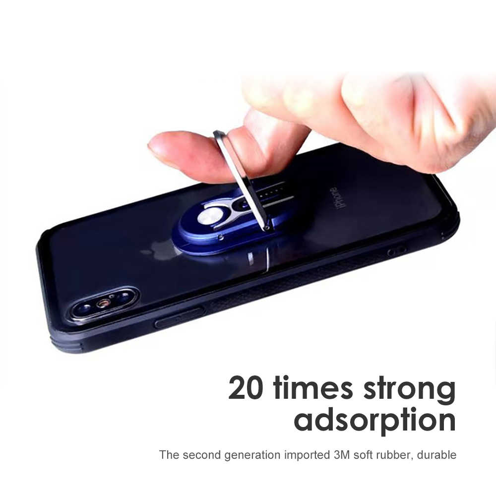 AOSHIKE 2 in 1 Car Air Vent Mount สนับสนุนโทรศัพท์มือถือแม่เหล็กแหวน Air Outlet แหวนโทรศัพท์วงเล็บ Universal นิ้วมือ
