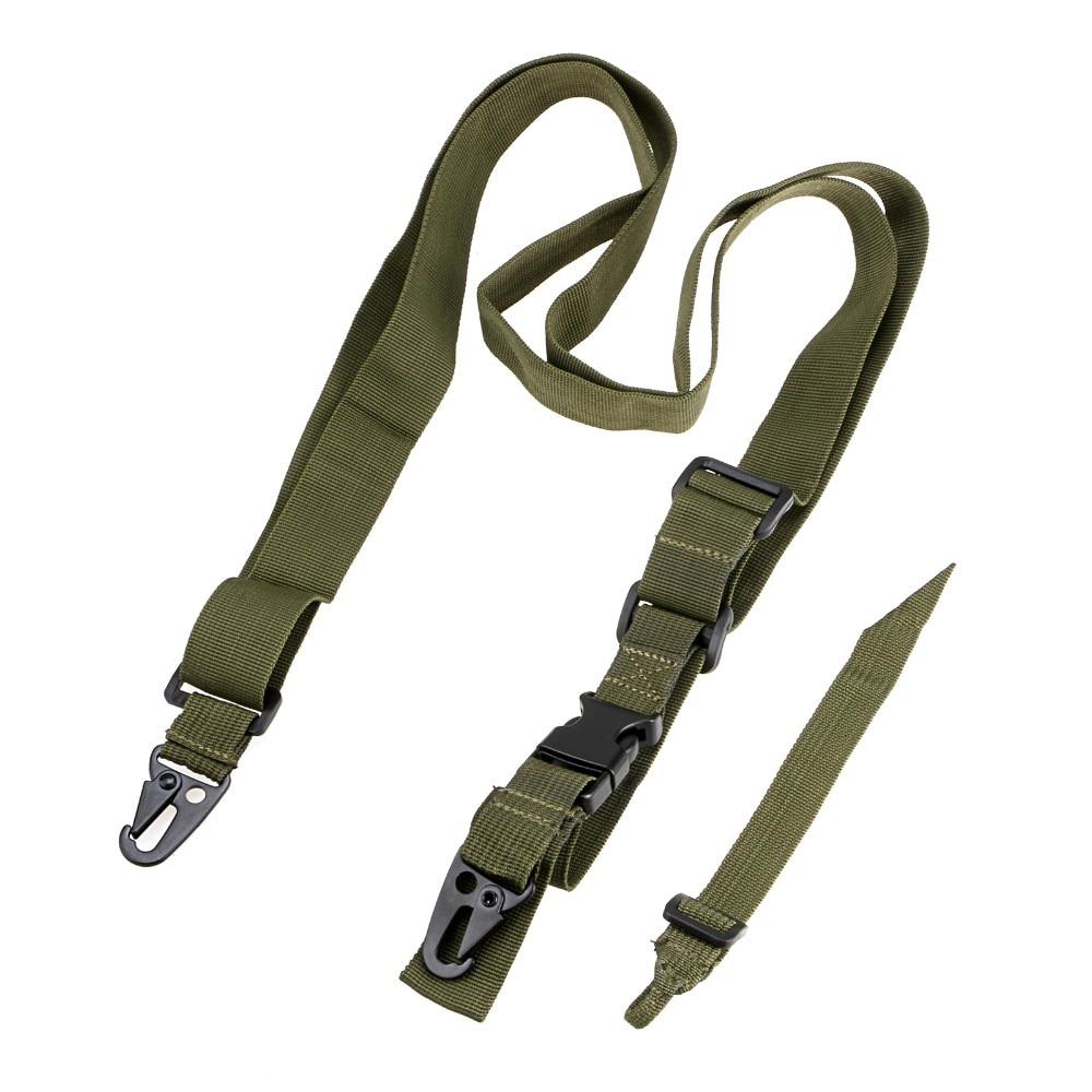 Тактический Пистолет Слинг 3 точечный банджи страйкбол винтовка ремень для стрельбы Охотничьи аксессуары три точечный Пистолет Ремень боевой ремень - Цвет: Army Green