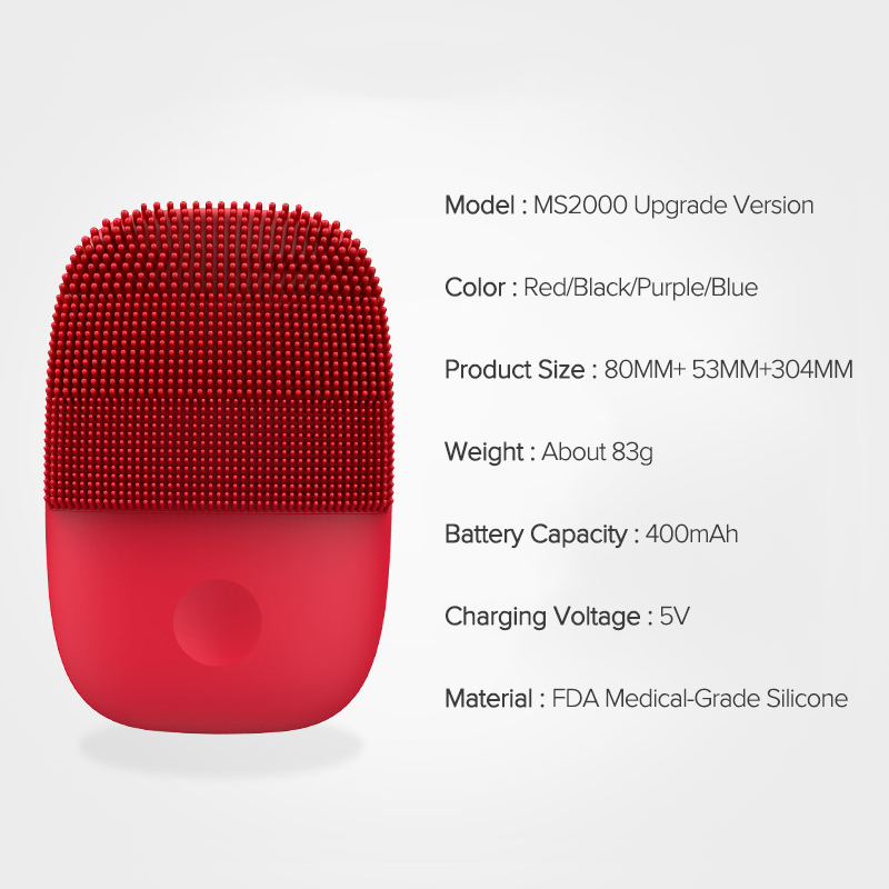 Image 5 - Inface обновленная версия щетка для очищения лица электрическая звуковая щетка для лица глубокое очищение водонепроницаемый инструментУстройства для чистки лица   -