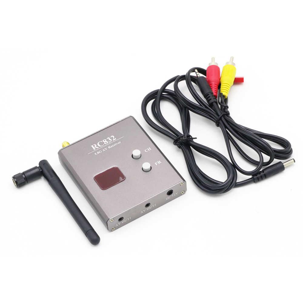 Transmisor y receptor inalámbrico FPV 5,8G 600mW 48CH TS832 RC832 Plus Tx juego RX transmisión de imagen para FPV multicóptero Drone
