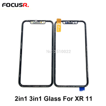 3in1 2in1 LCD Touch Screen Outer Glass +OCA+Frame Replacement For iPhone XR 11