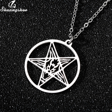 Large Talisman Baphomet Stainless Steel Chain Pendant Satanic Jewelry