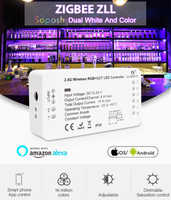 Drahtlose WiFi 2ID DC12-24V GLEDOPTO RGB + CCT Zigbee Smart LED-Licht Streifen Controller Smart Home Arbeit Farbton Brücke Amazon alexa Echo