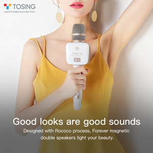 Image 3 - TOSING V2 New product Versatile high quality wireless karaoke Birthday Speaker portable handheld microphone for home theatre ktv