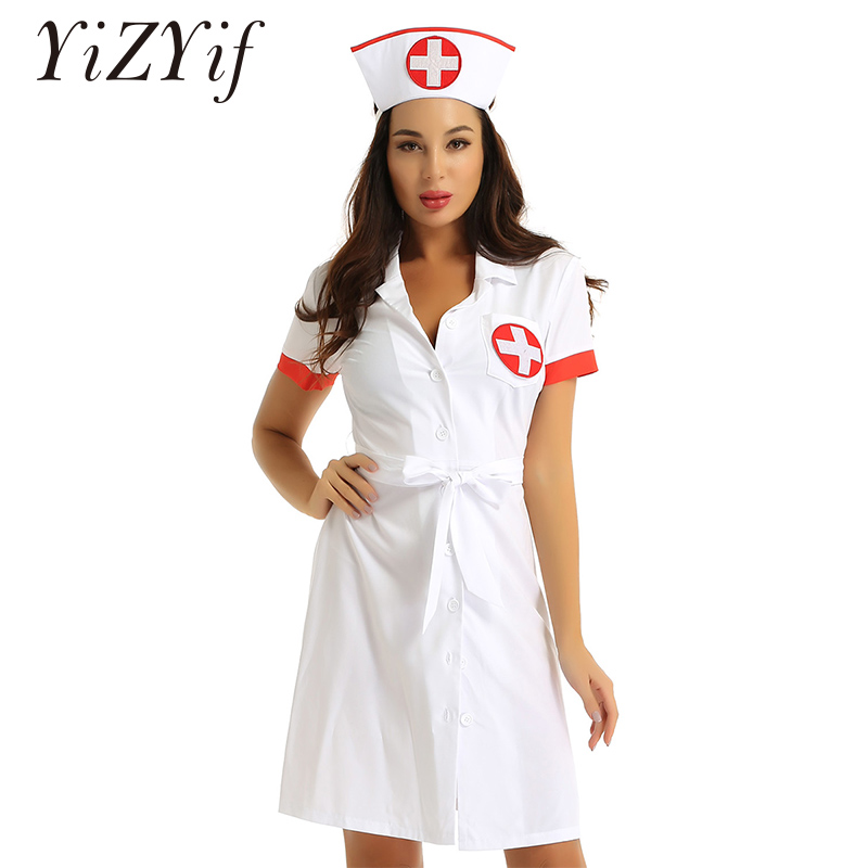 Details about  /Lingerie Women Baby Doll Dress Cosplay Nurse Costumes Underwear Sex Clothes
