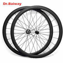 цена на 700c wheelset 38*23mm Tubular V Brake road bike carbon wheels Powerway R13 100*9 130*9mm carbon fiber bike wheelset 700c