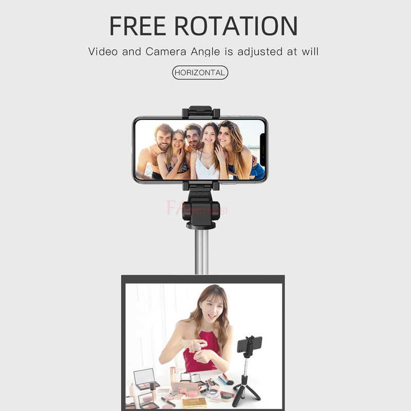 Fangtuosi Baru Nirkabel Bluetooth Selfie Stick 3 In 1 Dapat Diperpanjang Handheld Monopod Mini Tripod dengan Remote Shutter Palo Selfie