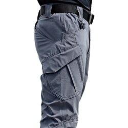 Pantalon de style militaire slim pour homme, nouveau modèle urbain, multi-poches, imperméable, résistant, matière extensible, décontracté, stylé, jusqu'au 5XL