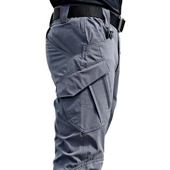 Nowe męskie spodnie taktyczne wiele kieszeni elastyczność wojskowe miejskie podmiejskich taktyczne spodnie mężczyźni Slim tłuszczu spodnie Cargo 5XL tanie i dobre opinie SONDR Cztery pory roku CN (pochodzenie) COTTON POLIESTER Biuro W stylu safari Mieszkanie Z KIESZENIAMI REGULAR 2 5 - 3 5
