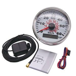 Image 2 - Universal 85mm GPS Speedometer Gauge Odometer For ATV UTV Motorcycle Marine Boat Buggy 0 40MPH 0 60Km/h Speed Gauge Auto Truck