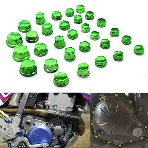 30 sztuk/zestaw motocykl nakrętka śruby pokrywa Cap śruba z nakrętką dekoracji chromowanie plastikowe dla Honda CBR250R VTR1000F Yamaha FZ6 FZ1 R6