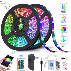 RGB Tape Ribbon Led-Strip-Light Wif-Adapter Stripe Flexible 2835 DC12V Diode 24key-Controller