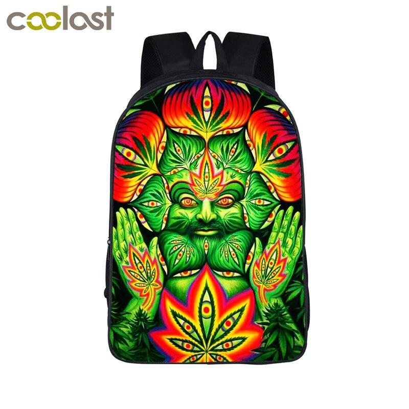 Smoke Weeds Leaf Backpack Men Women Street Hip Hop Bag Preppy Style Boys Girls School Bags Hipster Hiphop Backpack Bookbag