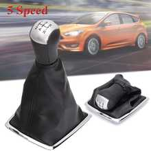5 Speed Car Gear Shift Knob Lever Shifter Gaiter Boot Cover For Ford for Focus MK II 2005 2006 2007 2008