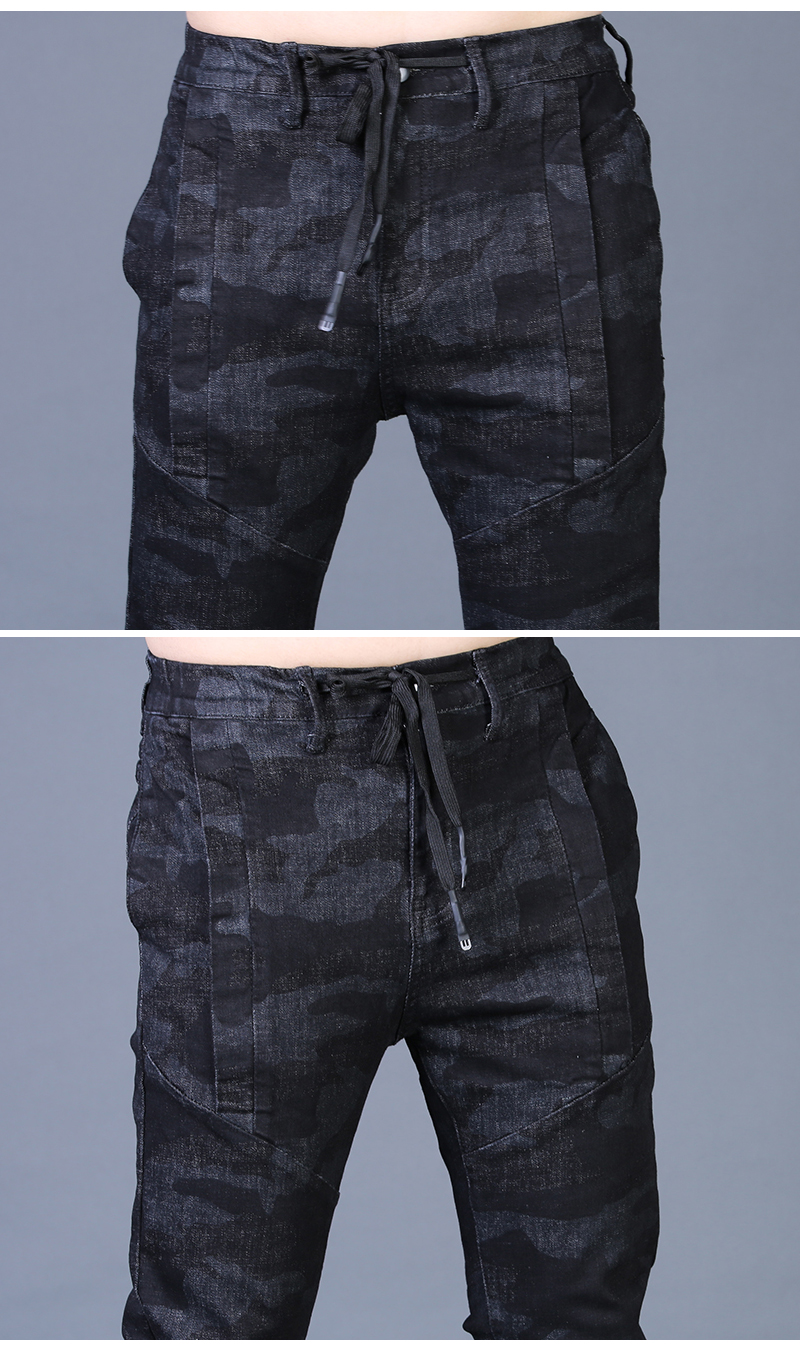 Free shipping new fashion men's male casual Original camouflage jeans men plus velvet autumn stitching pants Slim Korean C3129 84