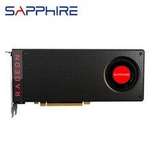 Ursprüngliche SAPHIR RX 480 8GB Grafikkarten GPU AMD Radeon RX480 8GB Video Karten Desktop PC Computer Spiel PUBG Karte Grafik VGA