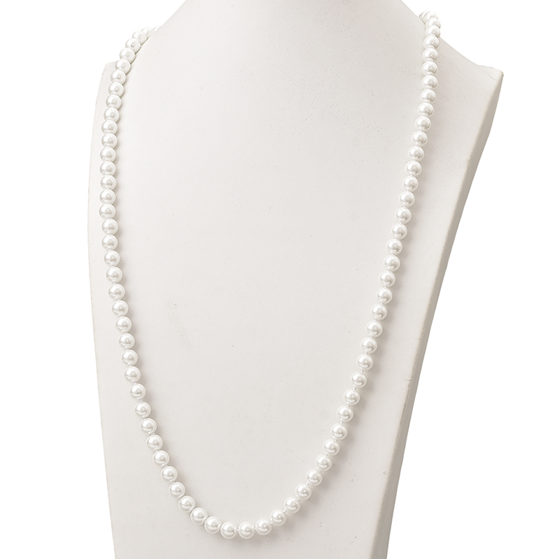 Pure White Long Pearls...