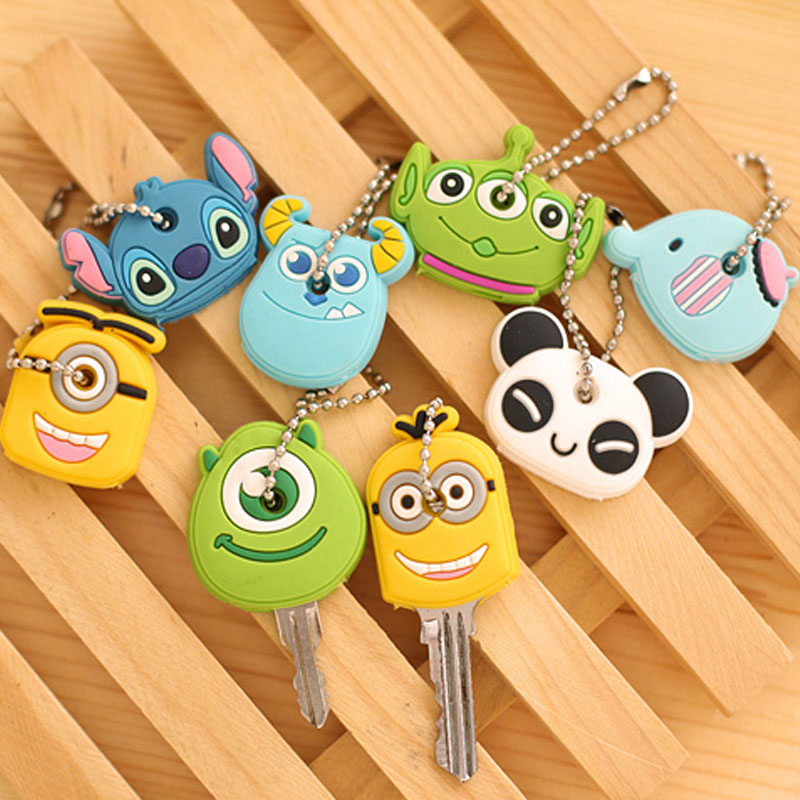Protective Key Case Cover For Key Control Dust Cover Holder Cartoon Silicone  Organizer Cat Home Accessories Supplies