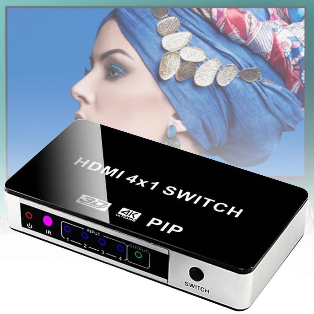 4K HDMI переключатель PIP 4x1 видеокоммутатор 4K x 2K 3D с пультом дистанционного управления для Apple tv PS4 HD tv LHB99