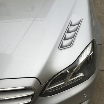 2pcs/lot Waterproof Shark Gills Car Styling 3D Simulation Vent Air Flow Fender Chrome Glue Sticker Decal Car Decoration image