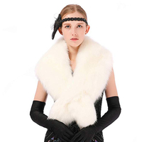 faux fox fur collar fashion shawls, vests for men and ladies charm, warmer scarf
