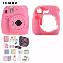 Fujifilm instax mini 9 kit de câmera conjunto filme foto câmera instantânea collocate 50 * filme/câmera caso/14 em 1 kits presente de natal