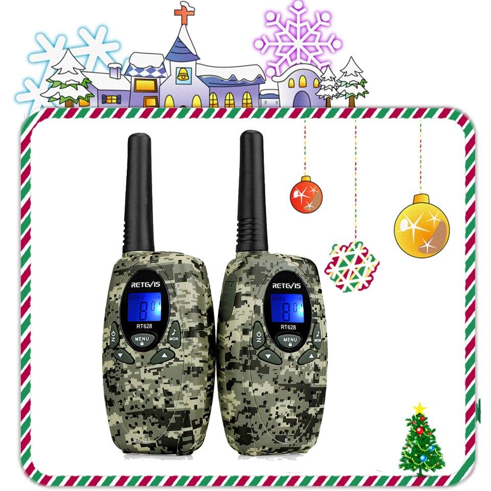 2pcs Retevis RT628 Toy Walkie Talkie Mini Kids Radio  0.5W PMR PMR446 FRS GMRS 8/22CH VOX Children 2 Way Radio Christmas Gift
