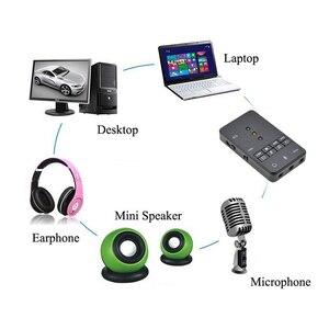DZLST USB 2,0 внешняя звуковая карта 7,1 канал с 3,5 мм гарнитура микрофон 3D аудио адаптер для планшетных ПК настольный ноутбук