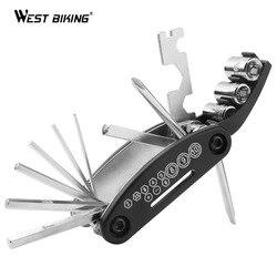 16 in 1 Multi function Mountain  Bike Bicycle Repair Wrench Screwdriver Nut Tire Repairing Tools Kit Sets Hex Spoke Allen key