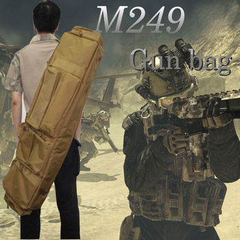 100cm Tactical Dual Rifle Carry Bag with Shoulder Strap For M249 Military Airsoft Gun Case Pouch Protection Hunting Bag