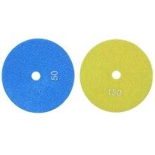 2x 5 Inch 125mm Wet Diamond Polishing Pads Marble Granite Grits 50 & 150