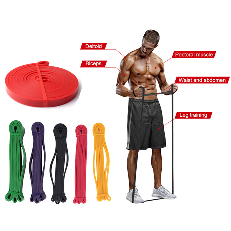 Unisex Resistance Band Exercise Elastic Rubber String Bands Workout Loop Strength Pilates Fitness Equipment Training Expander