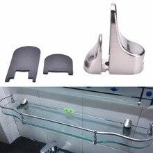 50mm X 24mm X 55mm Adjustable Metal Shelf Holder Bracket Support For Glass or Wood Shelves Glasses Clamps High Quality